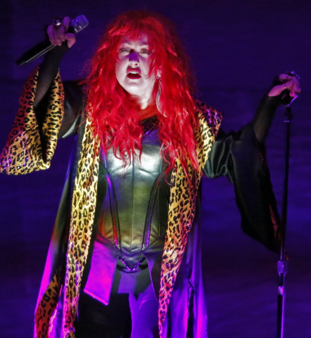 Cyndi Lauper being so unusual/ Star Tribune photo by Marlin Levison
