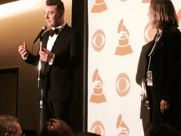 Sam Smith meets the press at the end of his big Grammy night