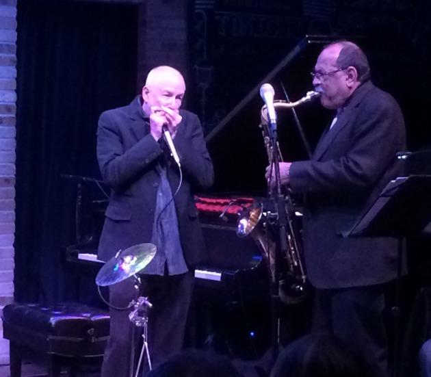 Corky Siegel and Ernie Watts jam at the Dakota
