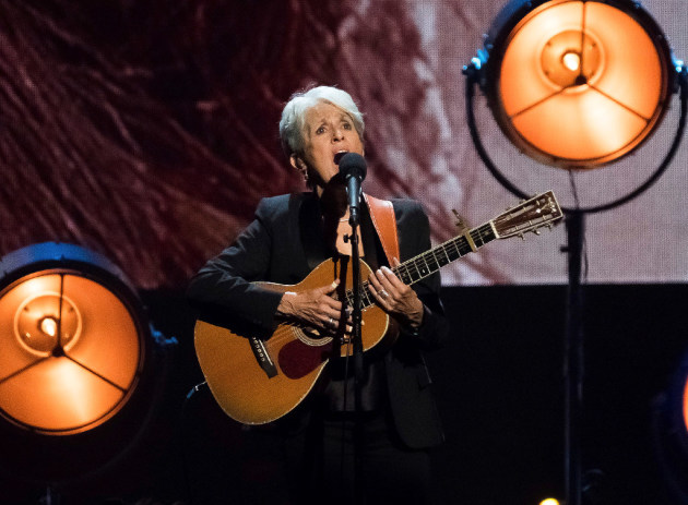 Joan Baez at her 2017 induction to Rock Hall of Fame/ Photo by Charles Sykes/ Invision/AP