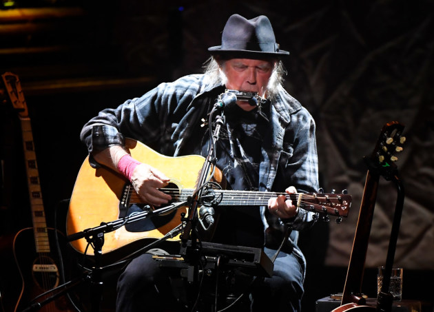 Neil Young at the Pantages on Saturday/ Star Tribune photo by Aaron Lavinksy