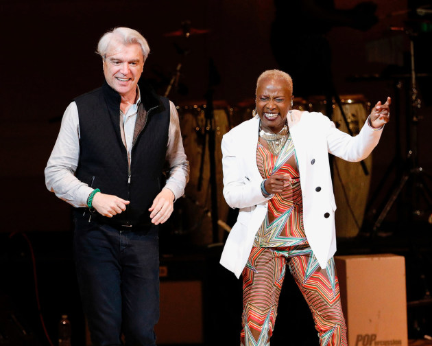David Byrne and Angelique Kidjo/ Photo by Taylor Hill/ FilmMagic