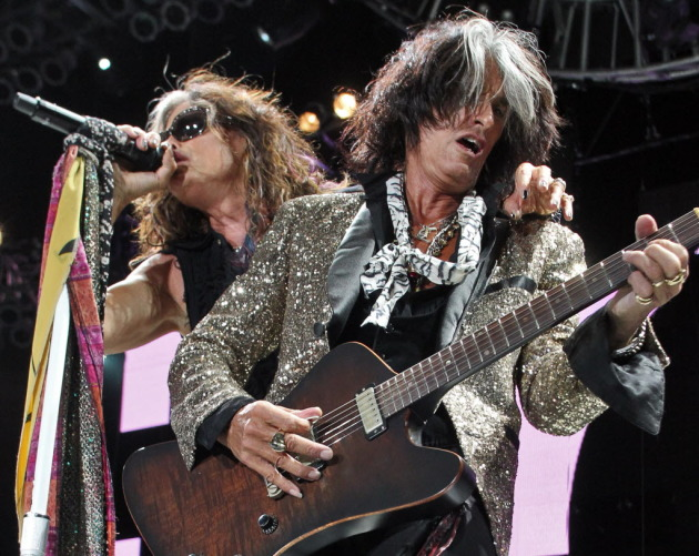 Aerosmith's Steven Tyler and Joe Perry/ Star Tribune photo by Marlin Levison