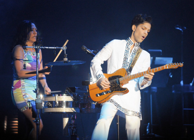 Prince and Sheila E in 2008/ New York Times photo
