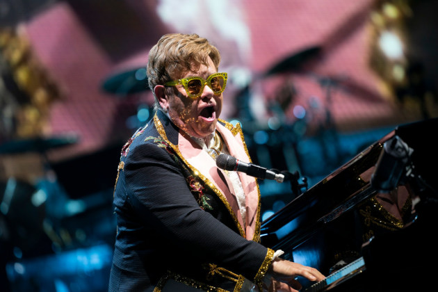 Elton John at Target Center in 2019/ Star Tribune photo by Renee Jones Schneider