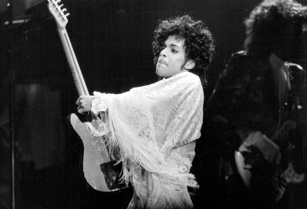 Prince on the Purple Rain Tour in St. Paul/ Star Tribune photo by David Brewster