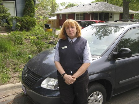 Carol Canniff and her unwanted Dodge Caravan