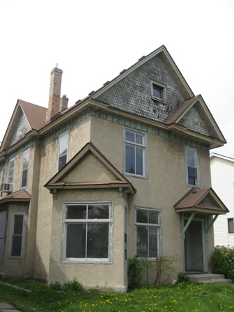 Ted Poetsch's old Victorian house still stands on Penn Avenue North, imposing but vacant.