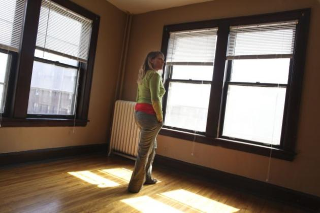 A building manager in a vacant apartment at 1830 Stevens