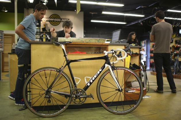 A pricy ride at Freewheel Bike (photo by Jeff Wheeler)