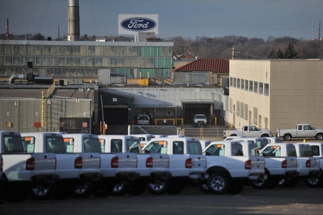 The last Ford Ranger leaves the St. Paul Ford Assembly Plant Friday morning. PHOTO: Glen Stubbe