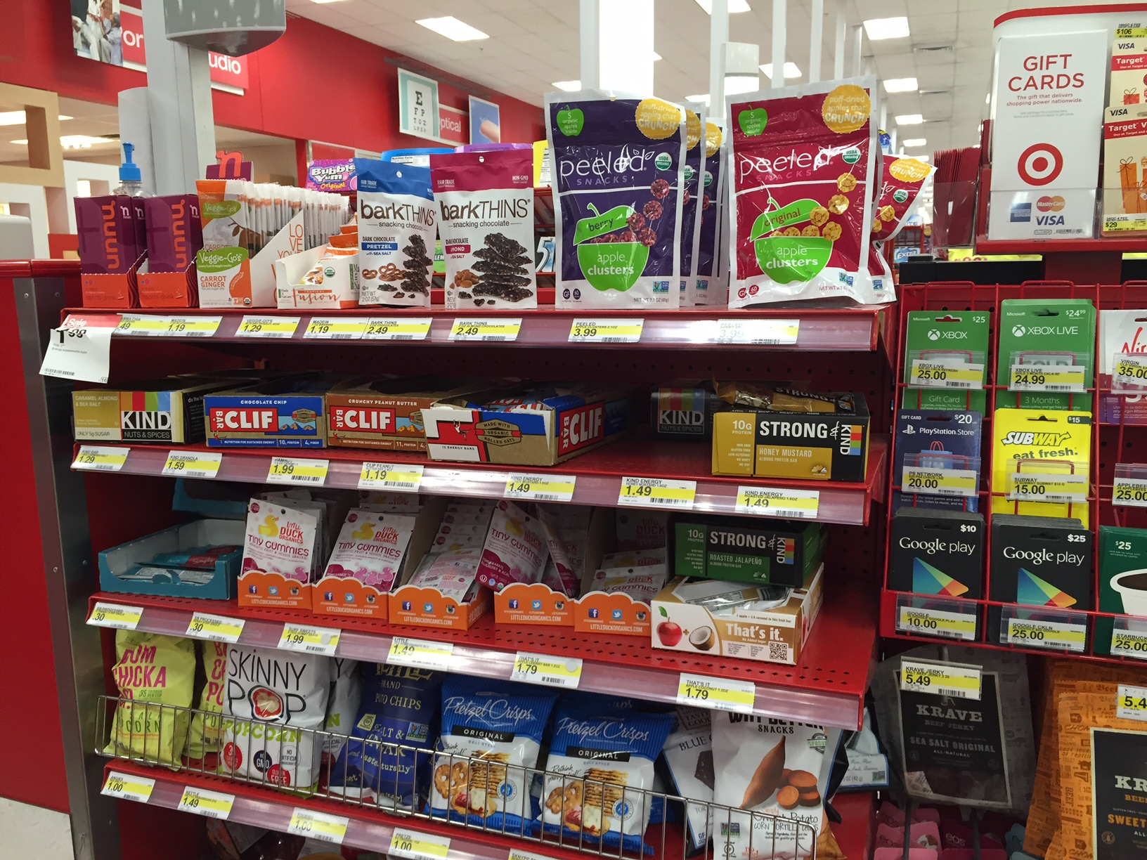 But In A Nod That Some Consumers Still Want The Other Stuff They're Used  To, The Bottom Three Shelves Were Full Of The More Typical Offerings Such  As