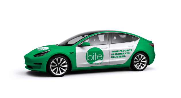 Bite Squad plans to swap out delivery fleet with Tesla Model 3s