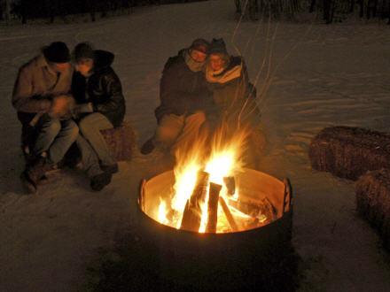 Apres-Snowshoe Bonfire