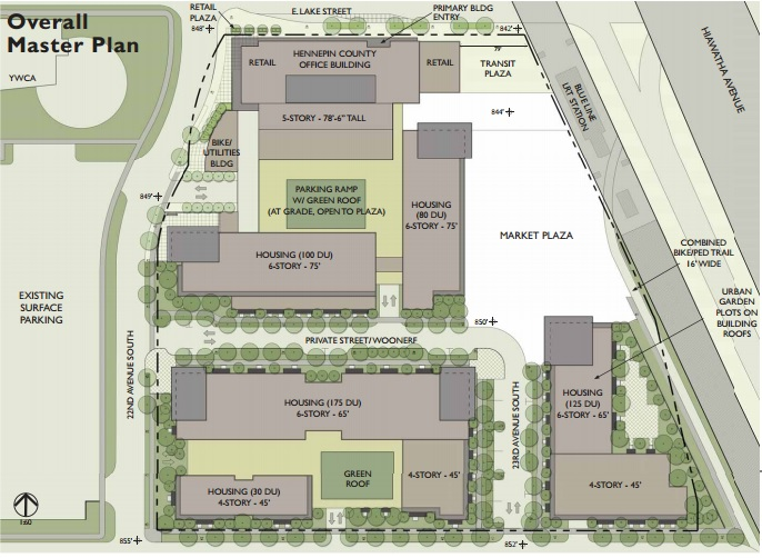 Overall Master Plan for Lake Street and Hiawatha Avenue, submitted by L&H Station Development