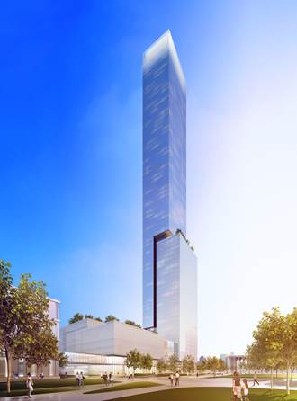 Duval Development's 80-story tower proposal would stand 32 stories taller than the IDS Center