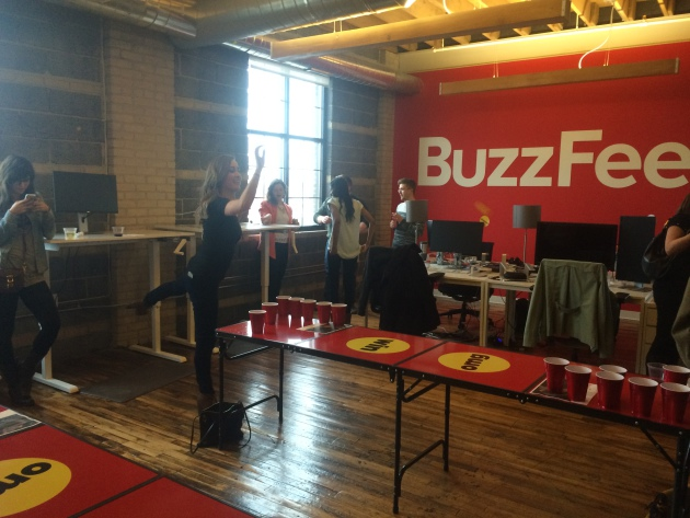 Buzzfeed's grand opening party of its Minneapolis office