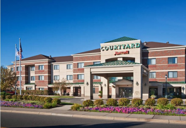 The Courtyard by Marriott in Roseville, sold by CSM Corp. to Blackstone. (Photo courtesy of CSM)