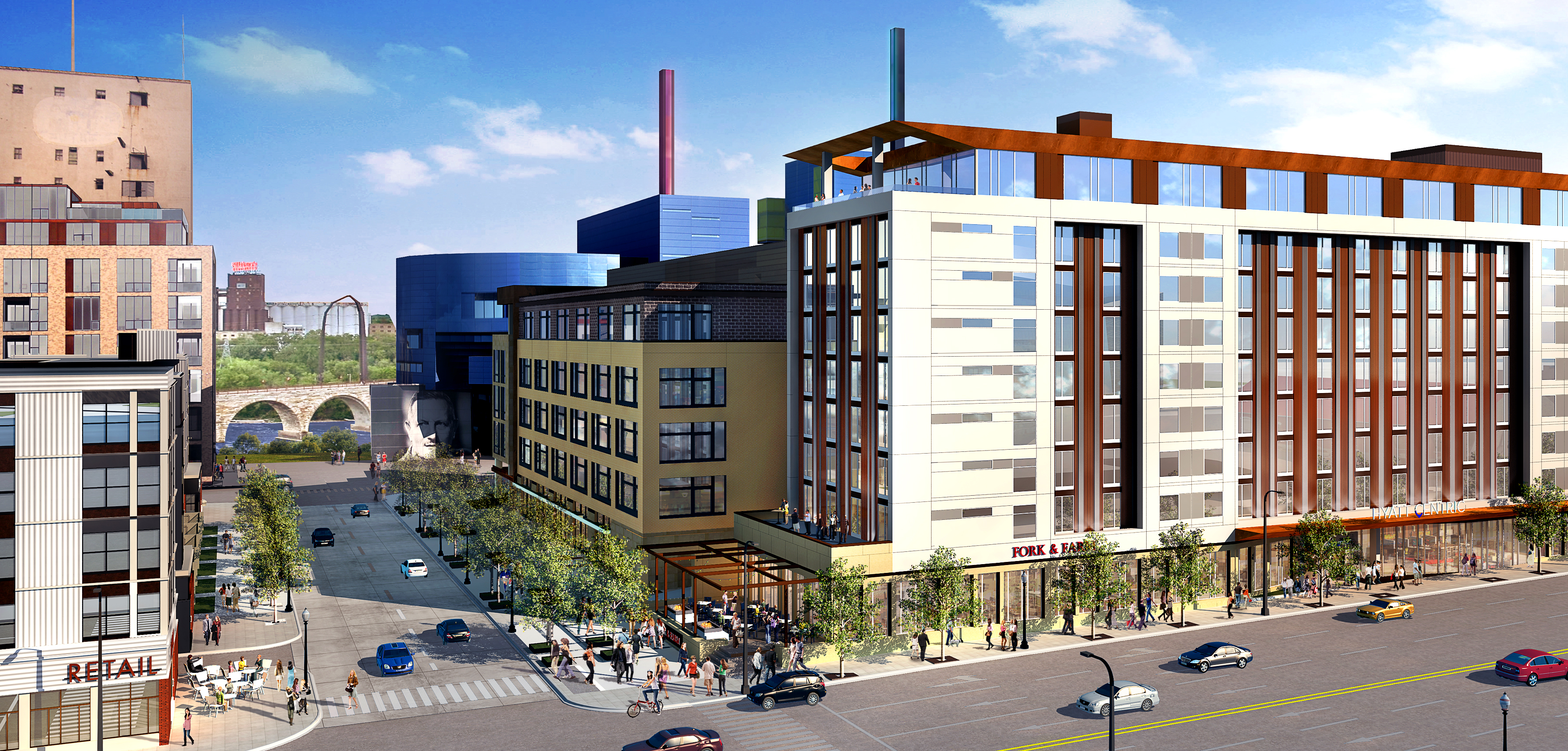 Mortenson's 9-story hotel, office and retail proposal for 800 Washington Ave. S.