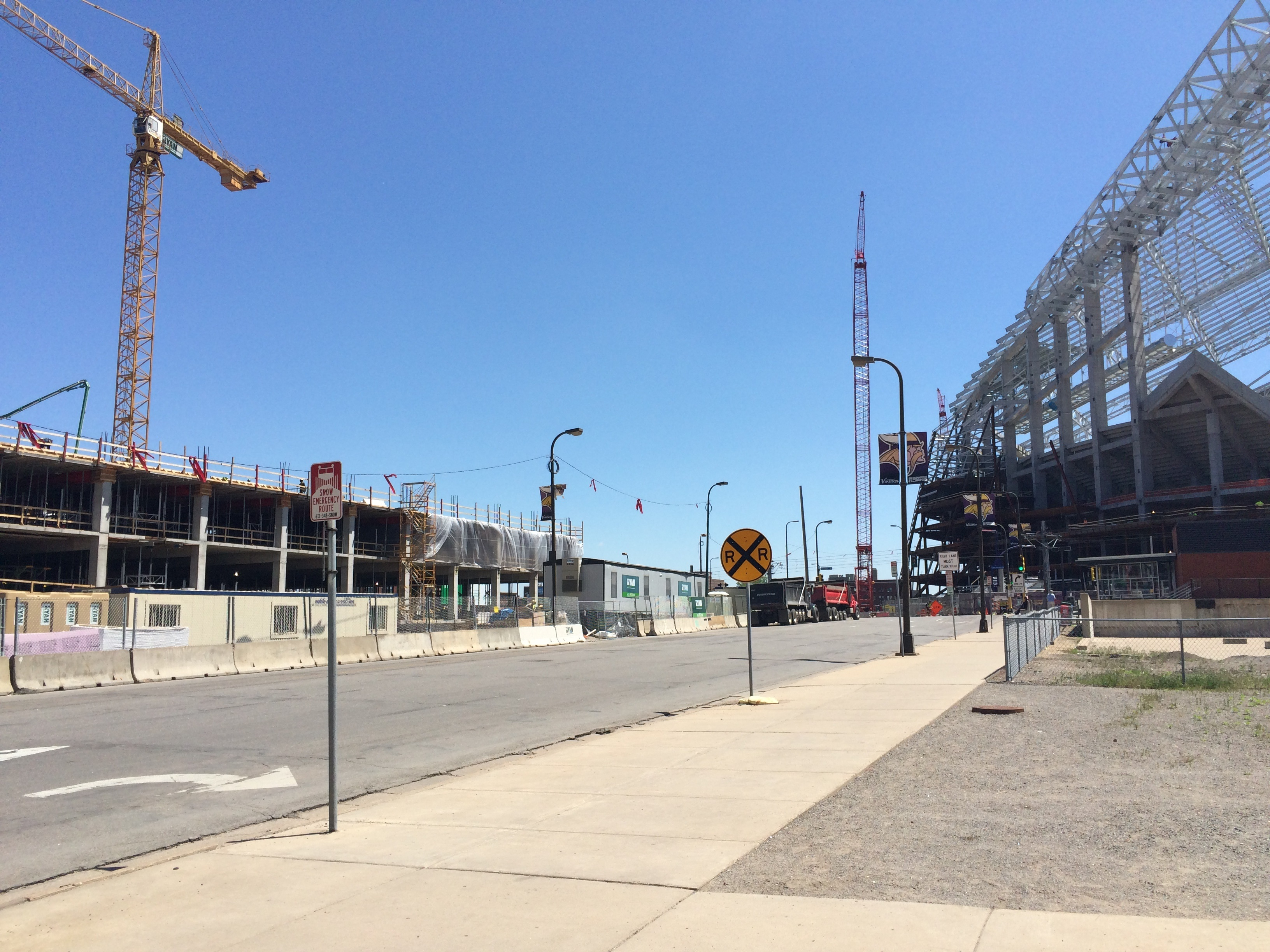 Thin parcel on 4th Street kitty-corner from Vikings new stadium where Ryan Cos. is considering condos and automated parking system