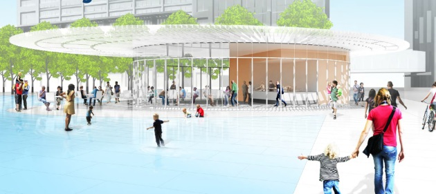 Downtown East Pavilion Concept Design as presented to the City of Minneapolis