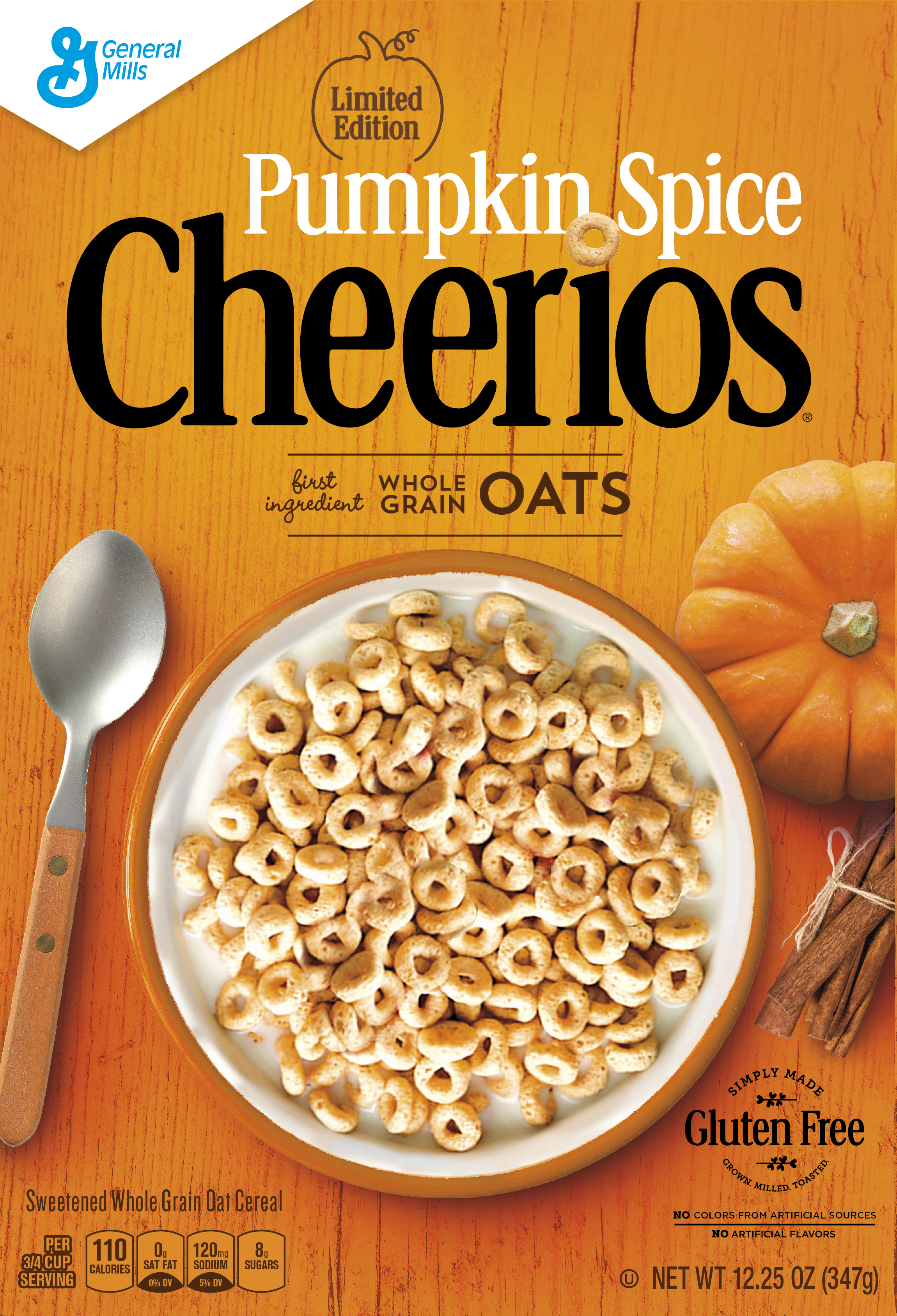 A box of Pumpkin Spice Cheerios, which will hit shelves this month. (Photo: General Mills)