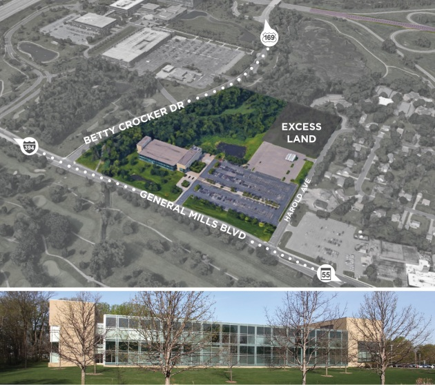 Cushman & Wakefield marketing images of General Mills' for-sale office building