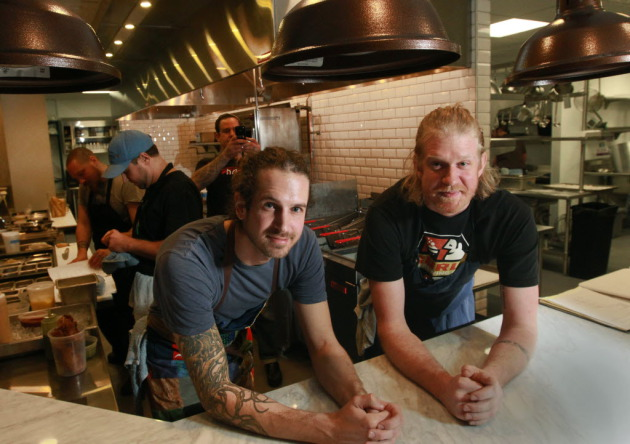 Photos by Star Tribune. Borough restaurant in Minneapolis: Tyler Shipton, left, and Nick O'Leary