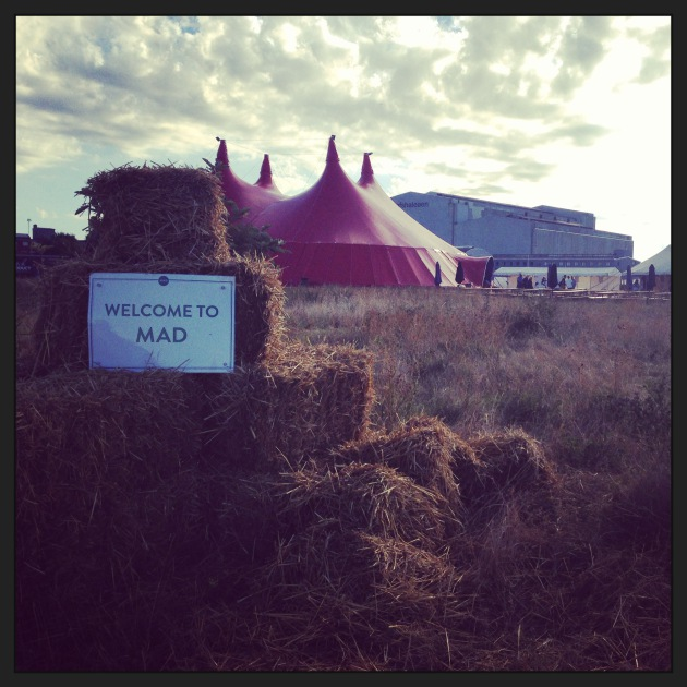 The MAD circus tent for speakers. Photo from The Perennial Plate