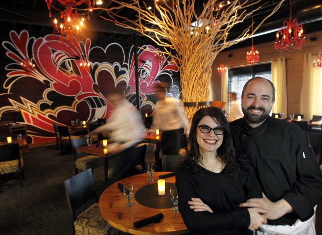 Heidi and Stewart Woodman in 2011 at Heidi's on Lyndale. Photo Star Tribune