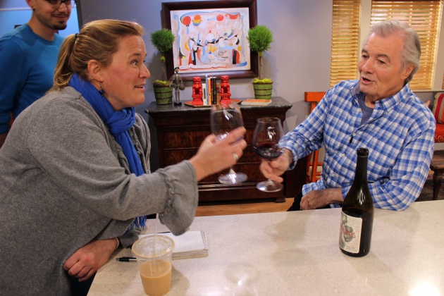 Rochelle Olson and Jacques Pepin, Photo by KQED
