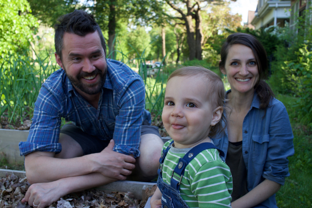 "Filmmakers Daniel Klein and Mirra Fine of ""The Perennial Plate, with their son James. Provided photo."