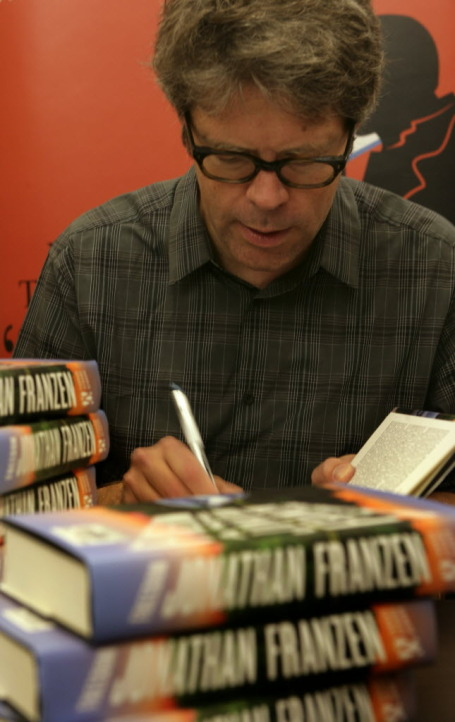 Jonathan Franzen signing books last fall at Magers & Quinn in Minneapolis. Staff photo by Joel Koyama