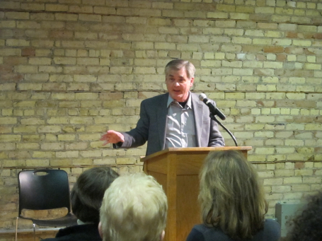 David Housewright was the keynote speaker on Sunday at the Minnpost Book Club Blast. 