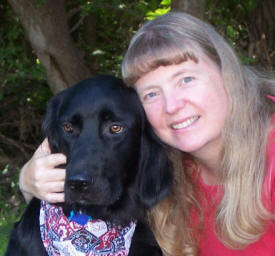 Dori Hillestad Butler and her dog, Mouse
