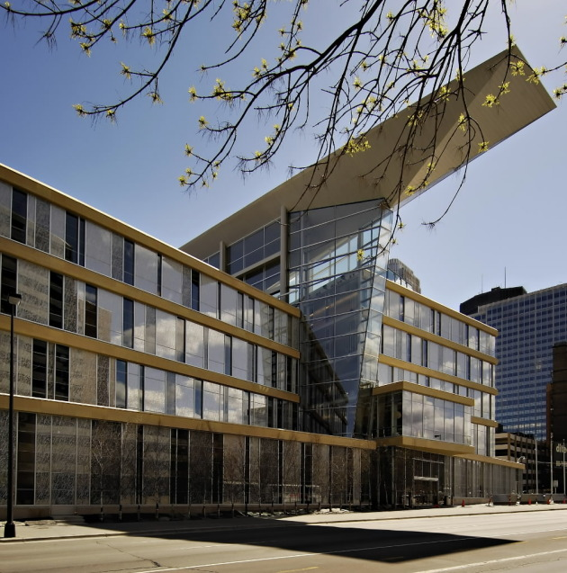 The new Minneapolis Central Library, just a month before it opened in 2006. Star Tribune staff photo by David Brewster