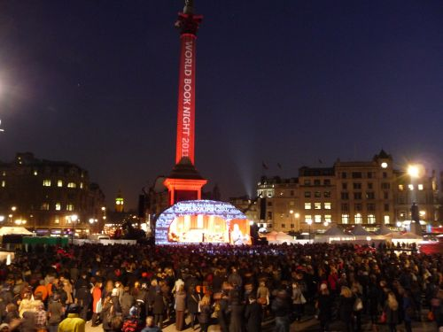 Last year's launch of World Book Night in Trafalgar Square, London.