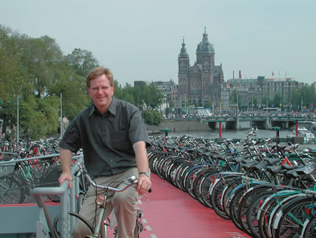 Rick Steves in Amsterdam. Soon, he'll be in Minneapolis.
