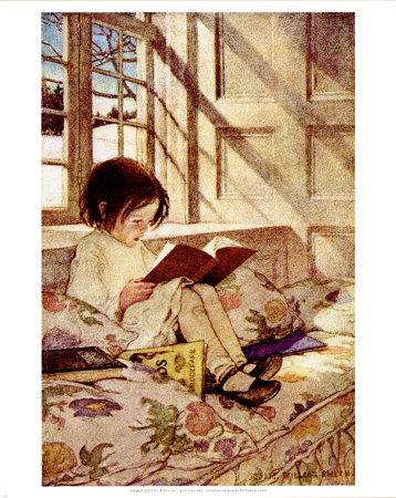 """Books in Winter"" by Jessie Wilcox Smith"