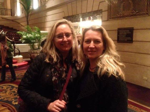 Writers Barrie Jean Borich and Cheryl Strayed. Photo by Kate Kysar