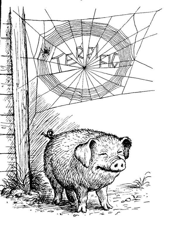 "Illustration by Garth Williams, for ""Charlotte's Web,"" by .E.B. White, published by HarperCollins."