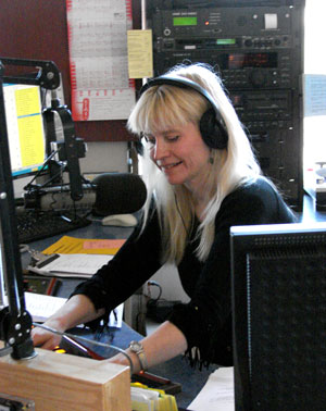 Lynette Reini-Grandell at the studios of KFAI.
