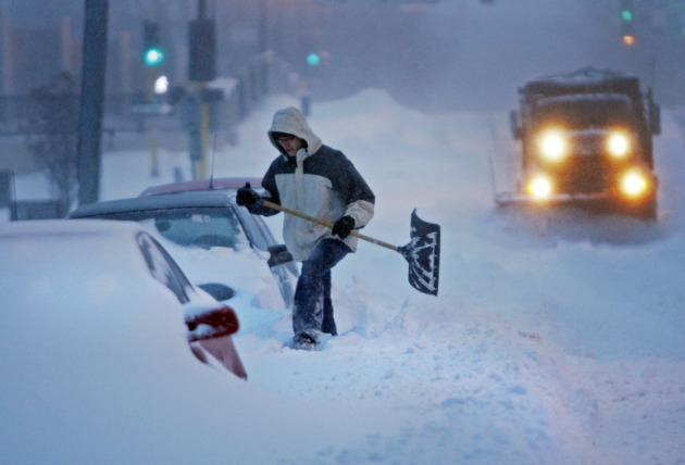 This is NOT what the Twin Cities will look like later tonight. Staff file photo (from 2010) by David Joles