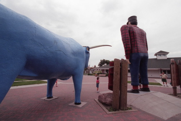 Paul Bunyan and Babe the Blue Ox. Star Tribune file photo by Chris Welsch.