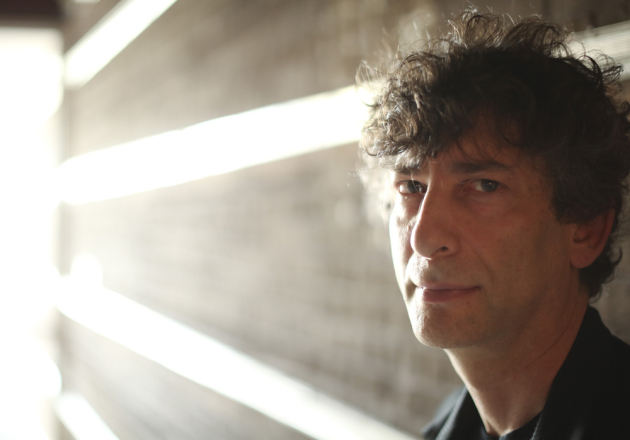 Neil Gaiman on Monday night. Star Tribune photo by Jeff Wheeler.