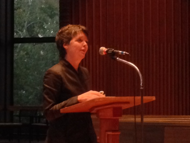 Alice McDermott reads at Weyerhaeuser Chapel.