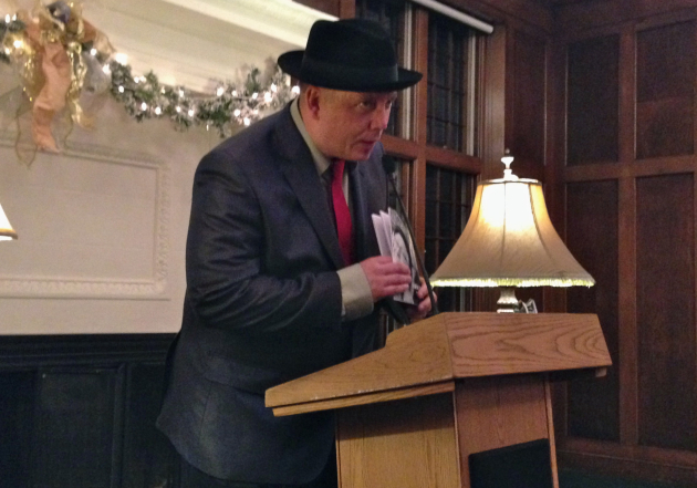 Danny Klecko reads at the University Club.