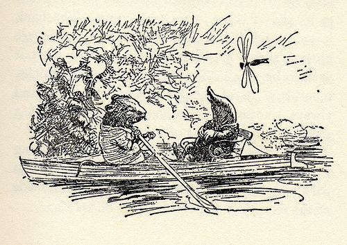 Ratty and Mole. Original illustration by Ernest H. Shepard