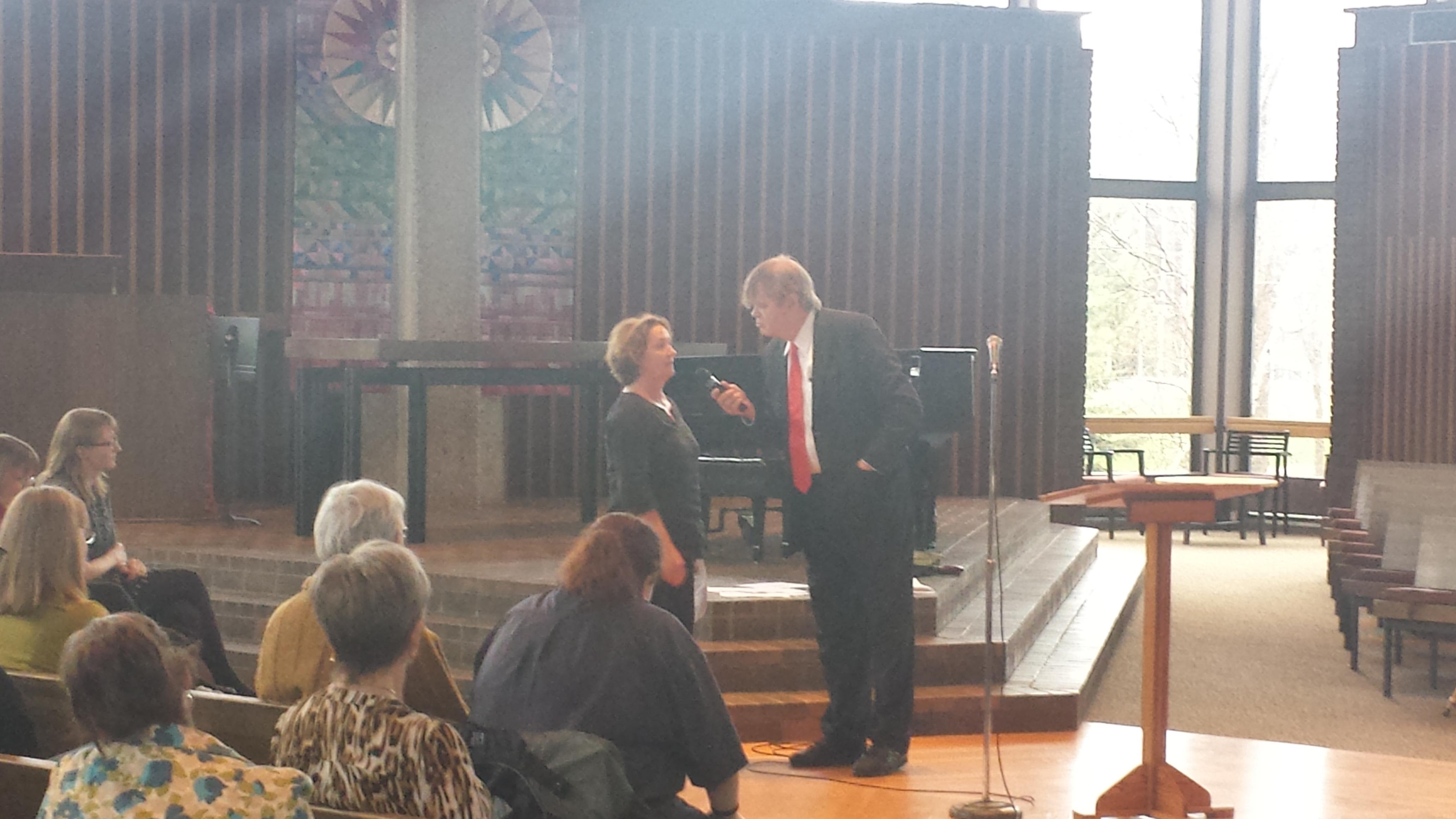 Garrison Keillor interviews Kristal Leebrick on Sunday.