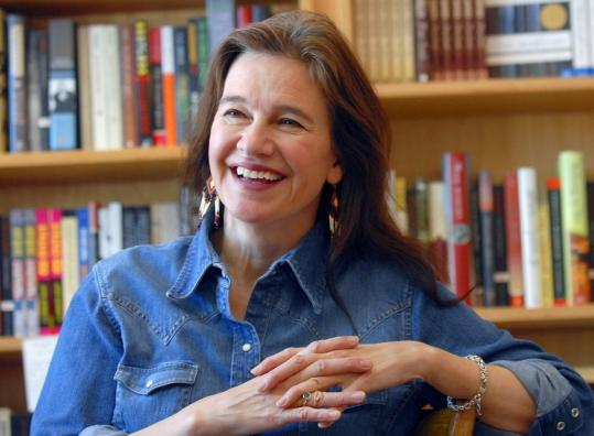 Louise Erdrich in her bookstore.